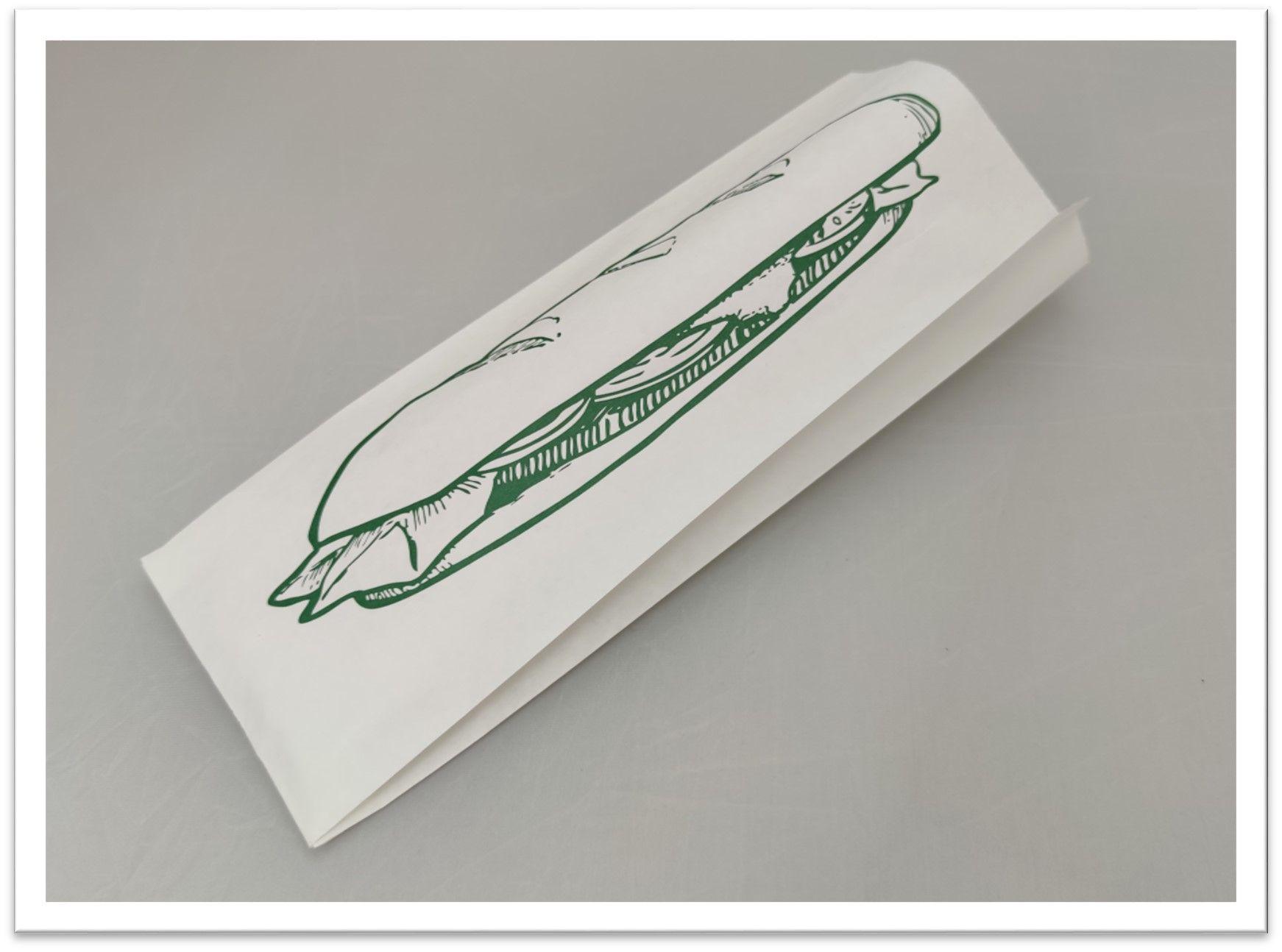 Bolsa blanca antigrasa 45+25gr 11+5x32cm