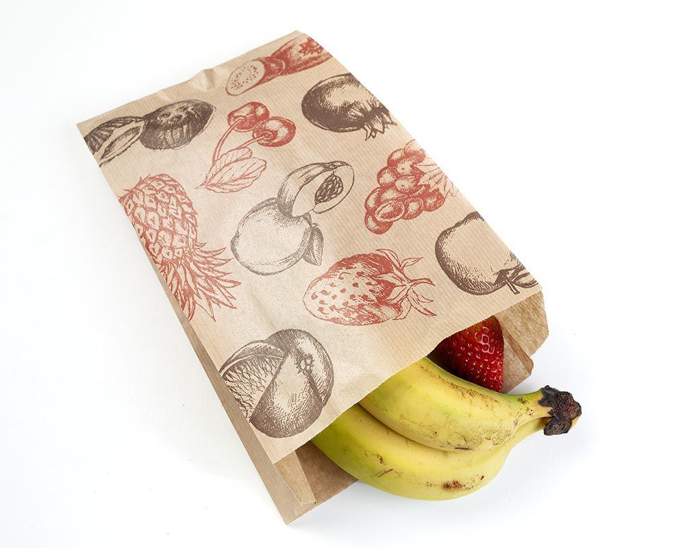 Bolsa Kraft 16+7x28 cm Fruta