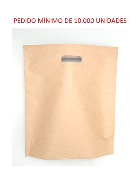 Asa Troquelada Kraft 34x39 +10(fondo) cm