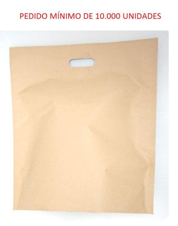 Asa Troquelada Kraft 45x50 +15(fondo) cm