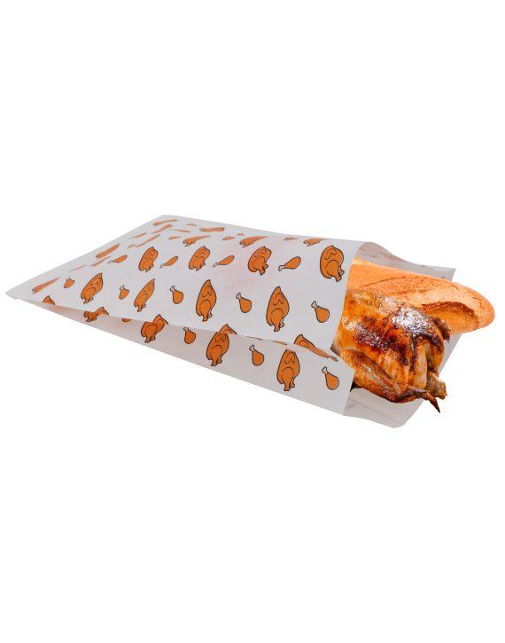 Bolsa Para Pollo 20+7x35 cm