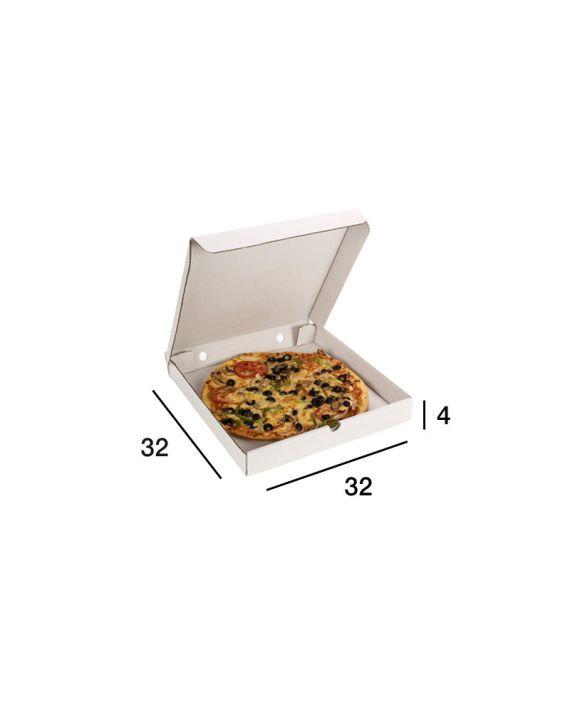 Caja Pizza Blanca 32x32x4 cm