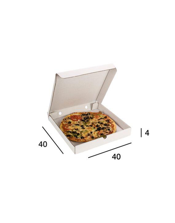 Caja Pizza Blanca 40x40x4 cm