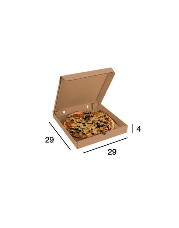 Caja Pizza Kraft 29x29x4 cm