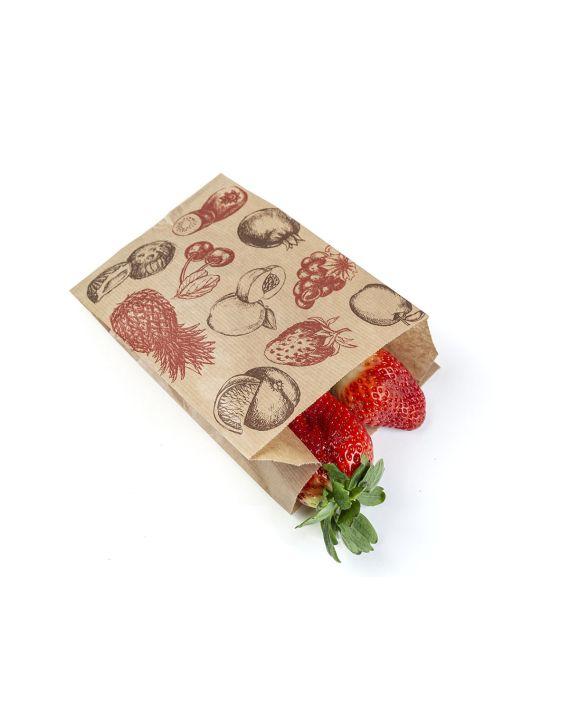 Bolsa Kraft 14+9x22 cm Fruta