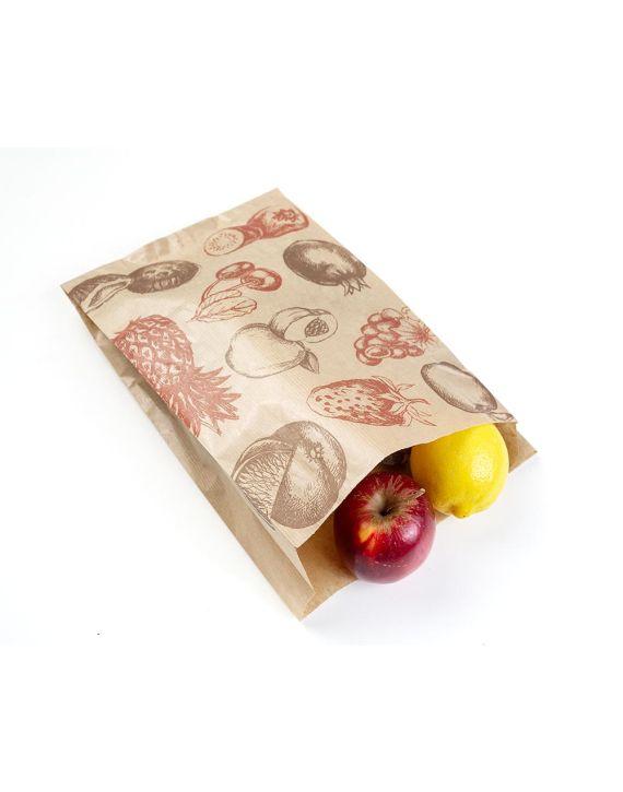 Bolsa Kraft 20+6x32 cm Fruta