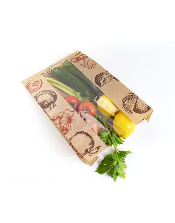 Bolsa Ventana 22+8,5x32 cm Fruta